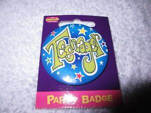 Happy Birthday Party Badge Teenager Boy