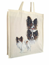 Papillon Cotton Shopping Bag with Gusset & Long Handles Perfect Gift