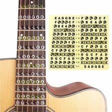 Map Fret Guitar Note Stickers Labels Decals Fingerboard Neck Fretboard