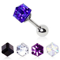 316L Surgical Steel Cubed Prism Cartilage Earring