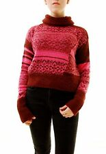 Free People Women's This And That Stripe Jumper Sweater Red Combo RRP £128 BCF71