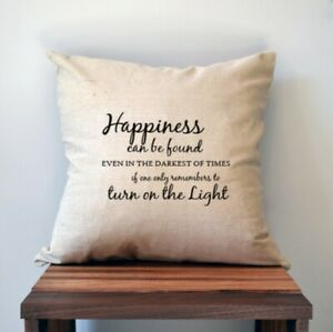 Harry Potter Pillow Cover, 18 x 18, Dumbledore Quote Pillow Cover, Happiness Can
