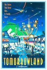 VINTAGE DISNEY POSTER - DISNEY WORLD TOMORROWLAND 8.5 x 11