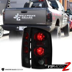 [SINISTER BLACK] 2002-2006 Dodge Ram 1500 2500 3500 Smoke Tail Lights Brake Lamp
