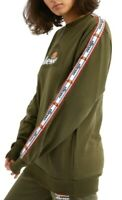 Ellesse Bodrum Sweatshirt Women's Heritage Sportswear Khaki