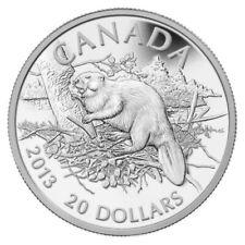 KANADA 20 CAD 2013 Silbermünze 1oz 9999 BIBER | BEAVER CANADA SILVER COIN PROOF