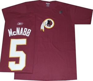 Washington Redskins Donovan McNabb Reebok T Shirt New tags
