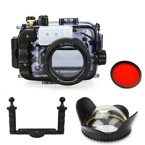 Seafrogs 60m Underwater Camera Housing for Sony A6000 A6300 A6500 Dome Port Tray