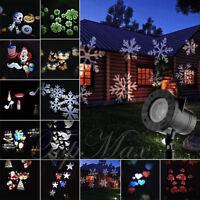 Focos Proyector LED Exterior Luz Reflector Navidad Moviendo Laser Paisaje Light
