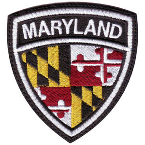 Maryland Flag Crest Embroidered Patch