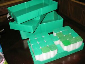 GREEN MONSTER BOX FOR SILVER EAGLE COINS WITH 25 U. S. MINT SILVER EAGLE TUBES