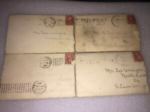 4 1911 LETTERS TO LEE WRIGHT FROM NORTHEAST,PA FROM GIRL FRIENDS.          WW