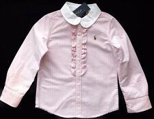 Ralph Lauren Girls' Striped 100% Cotton T-Shirts, Top & Shirts (2-16 Years)