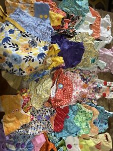 """Lot Of 53 Handmade 18"""" Doll clothes Dresses, Shorts, Hats, Skirts, Tops"""