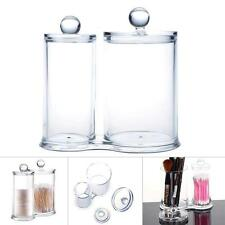 Q-tip Clear Conjoined Acrylic Cottonball Swab Holder Box Organizer Makeup