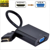 HDMI Male to VGA Female Adapter Video Cord Converter Cable 1080P Chipset For PC