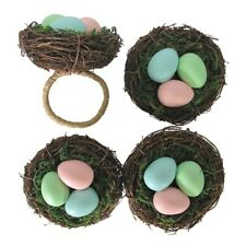4 Pc Celebrate Easter Robins Nest Eggs Napkin Rings Holders Nwt Free Shipping
