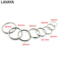 Key Rings Key Chain Split O-Rings Silver Nickel-Plated Bag Parts Accessories