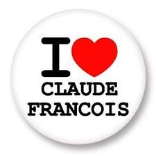 Magnet Aimant Frigo Ø38mm ♥ I Love You j'aime Claude François