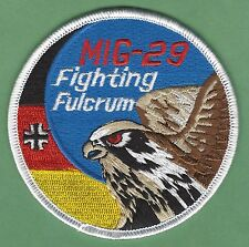 GERMAN AIR FORCE MIG-29 FIGHTING FULCRUM FIGHTER AIRCRAFT PATCH