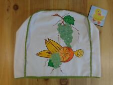 "VINTAGE KITCHEN APPLIANCE COVER Fruit Design White Green Trim 14"" H x 14"" x 5"""