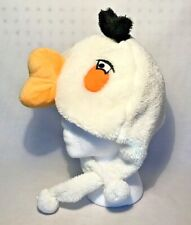 ANGRY BIRDS White Matilda Plush Trapper Hat Adult Size | Halloween Costume