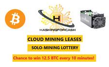 24 ora 14TH/S Bitcoin Crypto Lotteria Antminer S9 Cloud Rental Btc Assolo Lotto