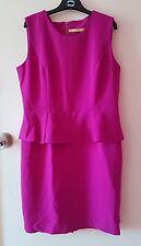 As New Women's work formal peplum dress purple size L
