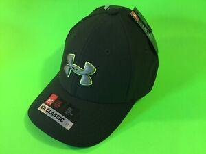New UNDER ARMOUR UA Classic Fit Youth Boys Snapback Hat Sz XS/S Dark Green/Gray