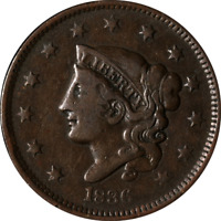 1836 Large Cent Great Deals From The Executive Coin Company