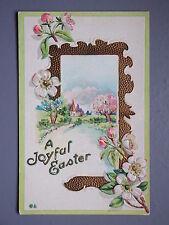 R&L Postcard: Art Design, Easter Floral Flower Embossed Design