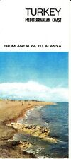 Turkey Mediterranean Coast From Antalya to Alanya Vintage Brochure