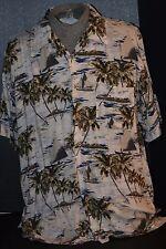 Cherokee Waikiki Wear Men's (L) 100% Rayon Machine Washable Beach/Island Shirt