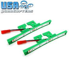 1 Pair 3D Printed Quadcopter LED Light Bar Kit for Racing Drones 12v (Green)