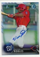 2016 Bowman Chrome * VICTOR ROBLES * On Card AUTO * REFRACTOR REF RC * #27/499