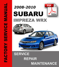 Subaru Impreza WRX 2008 2009 2010 Service Repair Workshop Manual + Wiring diagr.