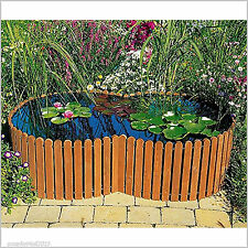 Raised Garden Pond Patio Fish Tank Pool Water Feature Outdoor Yard Decor  Curved