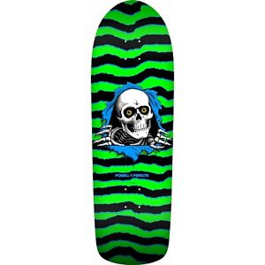 "POWELL PERALTA 10.0"" OLD SKOOL RIPPER SKATE DECK - Black Dipped"