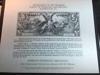 U.S. Scott #NSC6 Numismatic Souvenir Card 1973 ANA