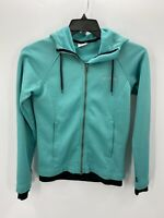 Columbia Womens Size S Small Blue Teal Full Zip Hooded Fleece Jacket