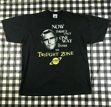 The Twilight Zone Sci-fi Channel TV Show Horror Black T shirt XL Made In USA Tee