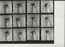 Hendrickson Contact Sheet Proof & Negatives Model Victorian Big Hat Topless