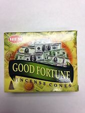 HEM INCENSE CONES 10 PER BOX FOR GOOD FORTUNE (BUENA FORTUNA)
