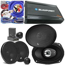 """New listing Blaupunkt 1600W 4Ch Amp + 2x Infinity 6.5"""" Component 2x 6"""" x 9"""" Speaker + Kit"""