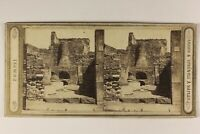 Italia Pompei Forno Foto Amodio & Sprüngli Napoli Stereo Vintage Albumina c1865