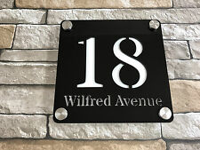 Large House Number & Street Sign Plaque PERSONALISED Modern Style - FREE P&P!!
