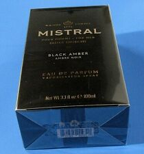 MISTRAL for Men Black Amber Parfun Spray Net Wt. 3.33 fl oz. 100ml NEW Box
