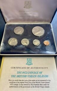 1975 BRITISH VIRGIN ISLANDS 6 COIN PROOF SET - 0.77 oz SILVER WITH COA