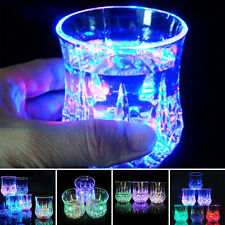 Inductive Colorful LED Wine Whisky Cup Flash light Glass Bar Party Light Cup New
