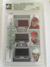 2012-13 ITG Ultimate Fedorov Hasek Jagr Jersey /23 All Star Year Silver SP